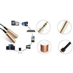 3.5Mm Jack 2 Mashkull To 1 Femer | Headphone Mic Audio Splitter Cable