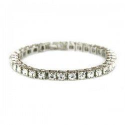 Byrzylyk me Prerje Diamanti Silver   Byzylyke per Meshkuj