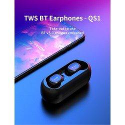 Kufje me Bluetooth QCY QS1 me Kase te Rikarikueshme