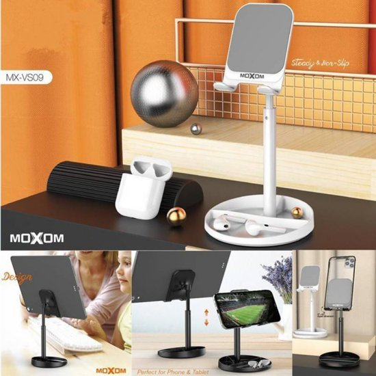 Mbajtese Telefoni dhe Tabletesh per Tavoline| Moxom Adjustable Phone Holder MX-VS09