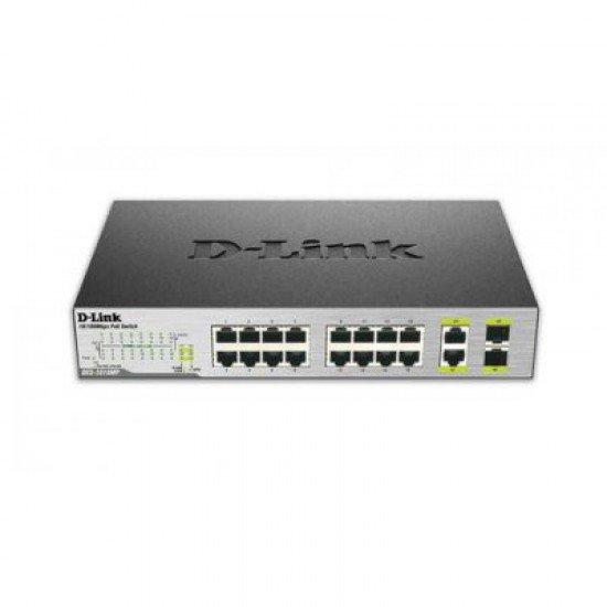 Switch D-Link me 16 Porta Fast Ethernet PoE 10/100 Mbps | Pajisje Rrjeti