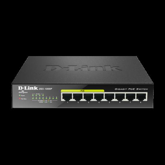 Switch D-Link me 8 Porta PoE Gigabit | Pajisje Rrjeti