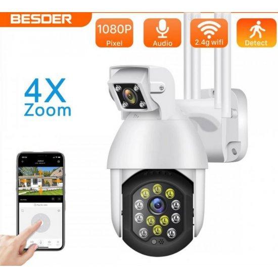 Kamera Sigurie me WiFi   Kamera IP 1080 Full HD   Kamera PTZ Remote Control