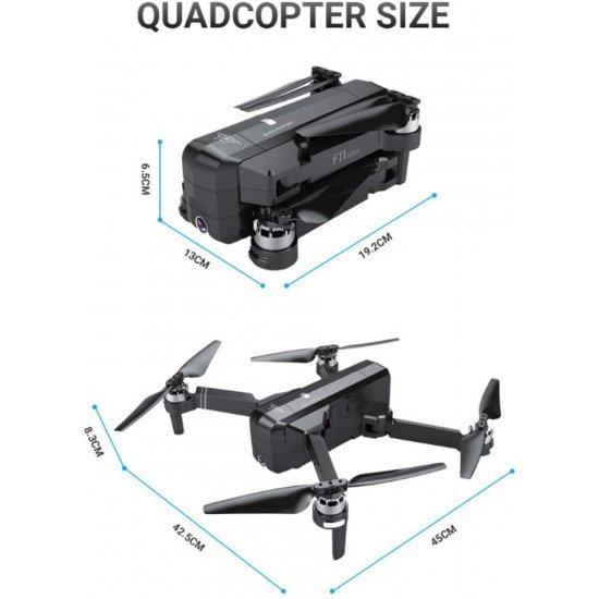 Dron Fluturues me kamer | Quadcopter SJ F11 2.4 GHz