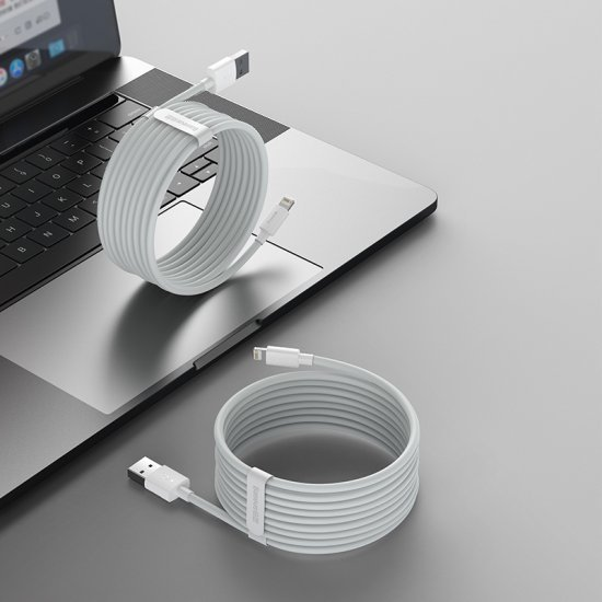 Fishe Baseus USB to iP 2.4A per Celular/Pajisje Elektronike/Makina | Data Cable Kit 2PCS/SET