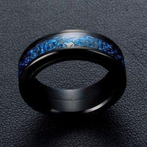 Unaze per meshkuj ngjyre e zeze me Safir Blu