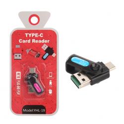 Adaptor Lexues Karte MicroSD Type-C OTG YHL-19
