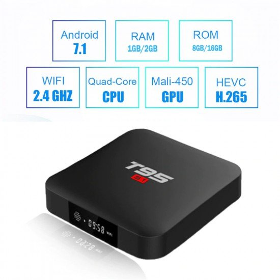 Android 7.1 TV Box T95 | Amlogic Box 4K | Memorie 8GB | RAM 1GB