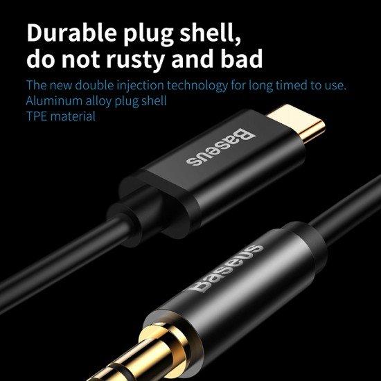 Adaptor Audio Baseus AUX Mashkull ne Type-C per Samsung, Huawei, Xiaomi, Sony, iPad Pro, Laptop