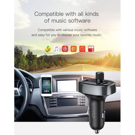 Karikues Baseus per Makine | Karikues me Bluetooth | MP3 | Fast Charger