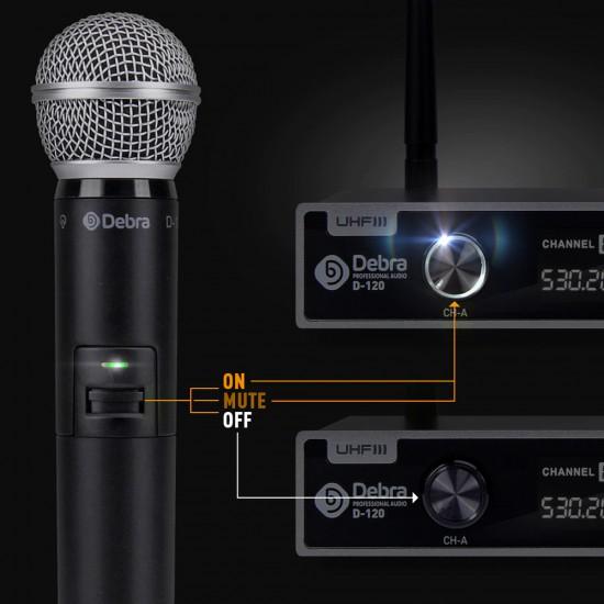 Mikrofon Debra me Wireless per Karaoke | Set Profesional