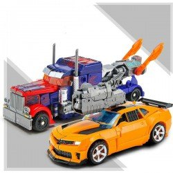 Makine Robot Transformers | Optimus Prime & Bumblebee Autobot | Lodra per Femije