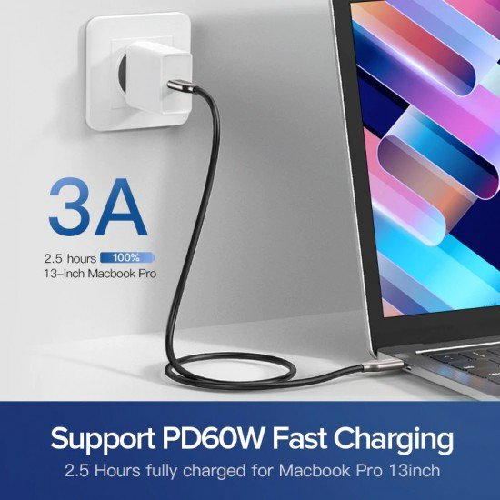 Fishe Karikimi Ugreen Power Delivery(PD) 60 W USB-C ne USB-C 3.1 Fast Charger 10Gbps