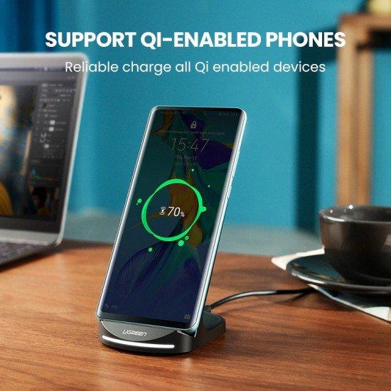 Karikues Wireless Ugreen dhe Mbajtese per iPhone 8, X, XS,11 Pro, Samsung S8, S9, Note 8/9 Fast Charger