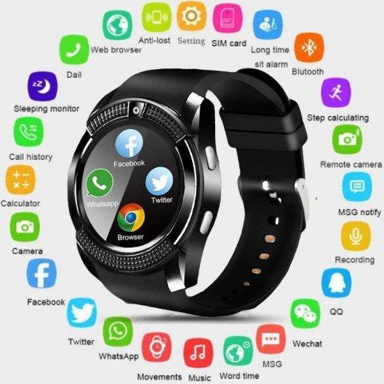 Smartwatch per Meshkuj / Femra me Karte SIM, Kamera | Ore Inteligjente