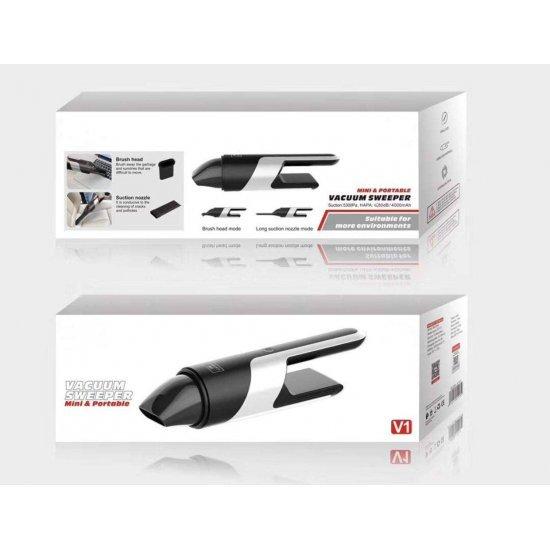 Fshese Dore me Vakum per Pastrimin e Makines ET-V1|Handheld Vacuum Sweeper ET-V1