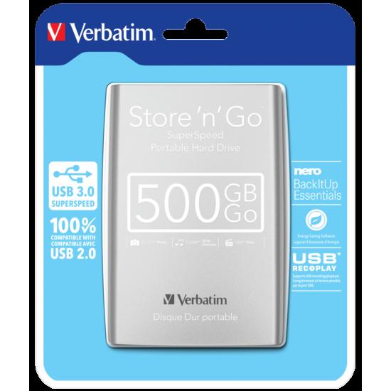 "Hard Disk i jashtem Verbatim Ext HDD 2.5""500GBUSB 3.0"