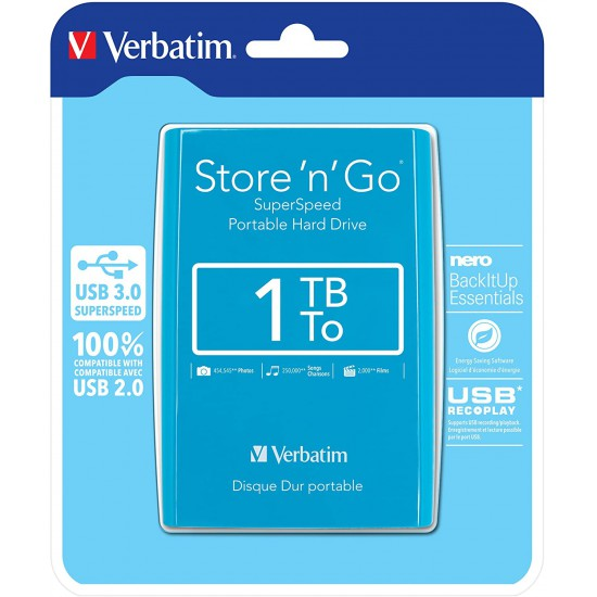 "Hard Disk i jashtem Verbatim External HDD 2.5""1TBUSB 3.0 Store"