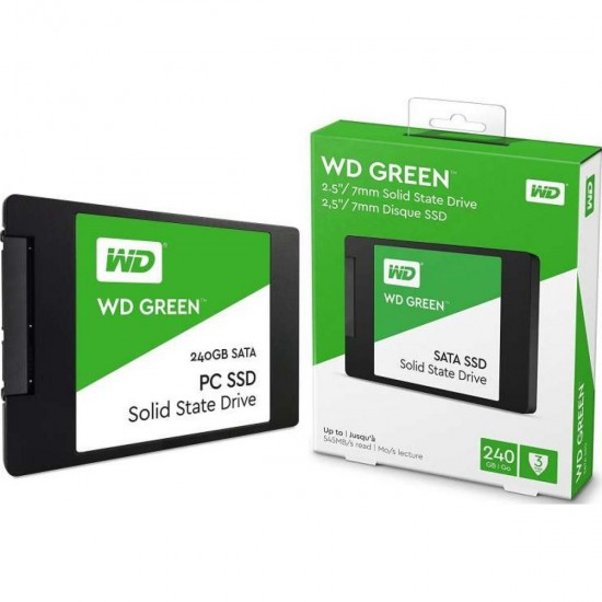"""SSD 2.5"""" 240GB WD Green Read 540Mbps Write 465Mbps"""