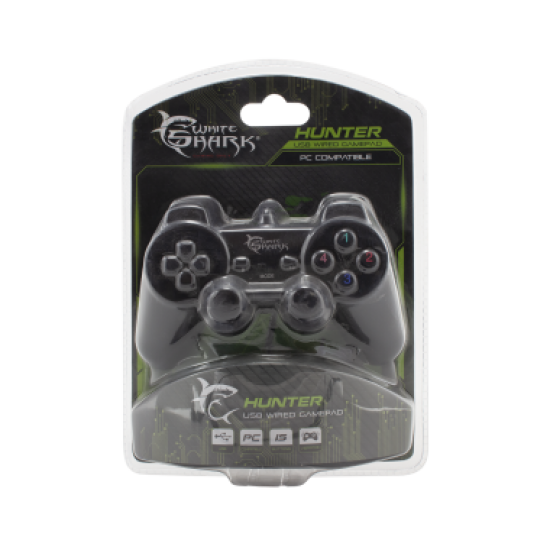 Leve Kontrolli per Lojra White Shark | Joystick Gamepad GP-2009U Hunter