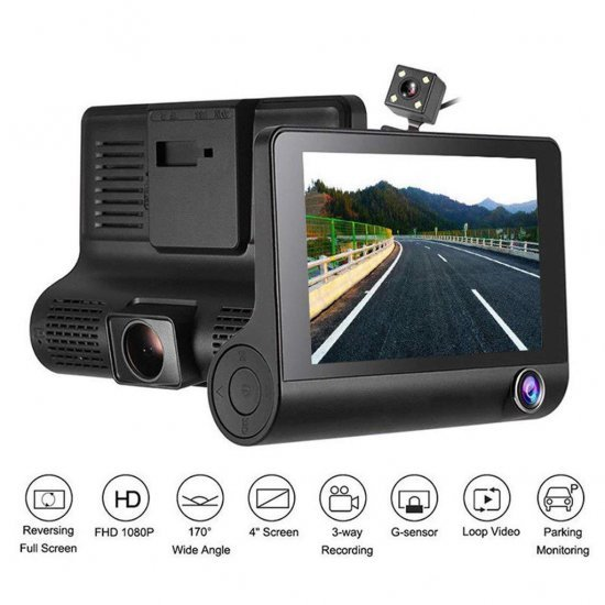 Kamera per Makine WDR Dash me 3 Lente 1080p Full HD|Car DVR Video Recorder