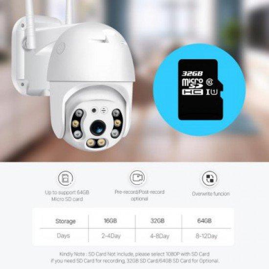 Kamera Sigurie me WiFi   Kamera IP 1080 Full HD   Kamera PTZ