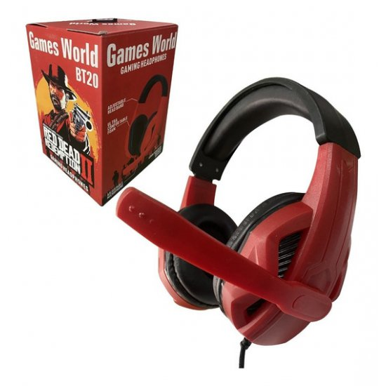 Kufje me Mikrofon per Lojra per Kompjuter dhe Telefon | Gaming Headphones Games World BT20