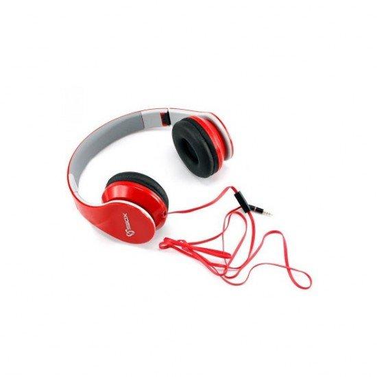 Kufje HEADSET SBOX HS-501 TE Kuqe  me mikrofon| KUFJE SBOX HS-501R