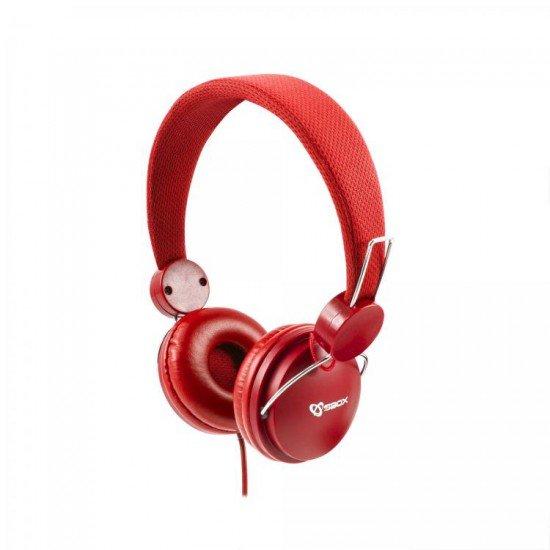 Kufje SBOX Te kuqe pa mikrofon | KUFJE SBOX HS-736R