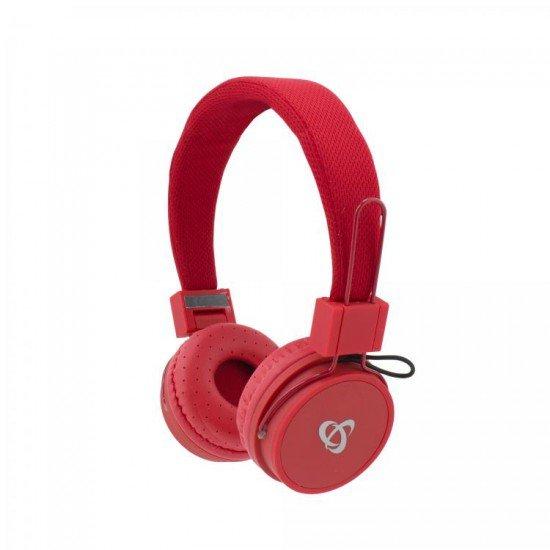 Kufje me Bluetooth SBOX te Kuqe me Mikrofon  KUFJE SBOX HS-BT-890R