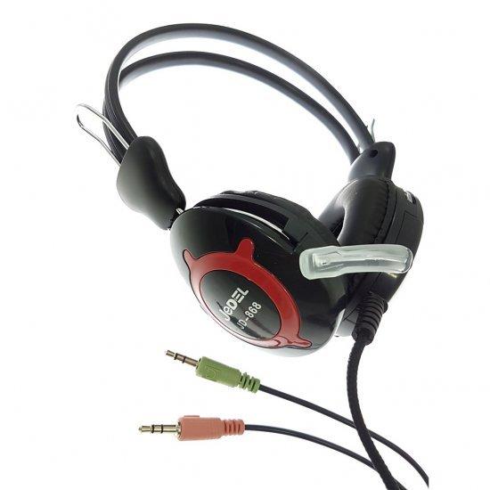 Kufje Gaming me Mikrofon per Kompjuter dhe Celular | Stereo Headphone JEDEL JD-868