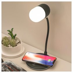 Llampe Multifunksionale me Drite LED |L4 Lamp Speaker With Wireless Charger