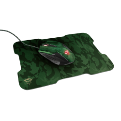 Mouse Gaming Trust + Mouse Pad Rixa Camo 23611 6d 3200 dpi   VideoGame