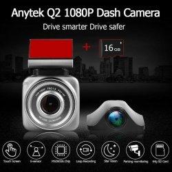 Kamera per Makine Q2 Dash Cam me 2 Lente 1080p Full HD |Anytek