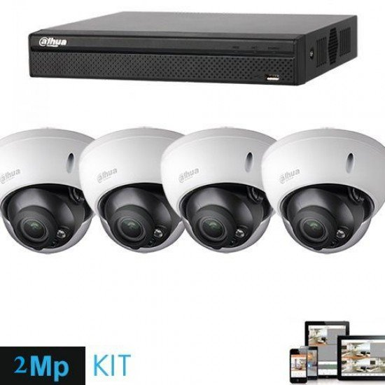 Kamera Sigurie 2MP IP | Set Kamera 4 cope