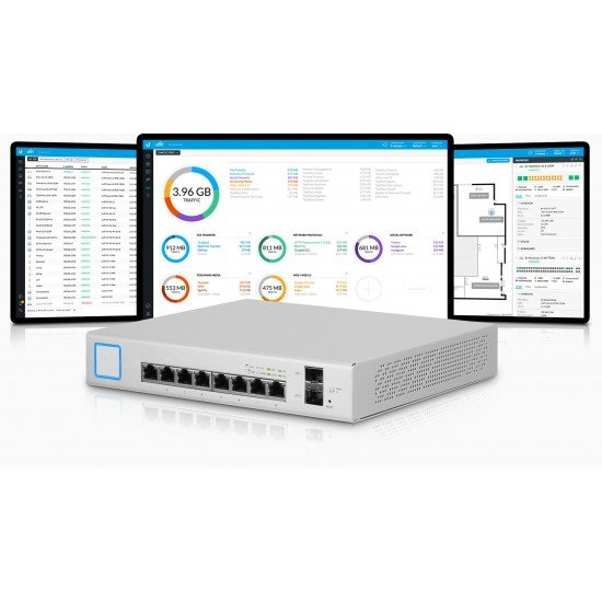 Switch Unifi 8 Port 150W | Ubiquiti Networks | Switch US-8-150W