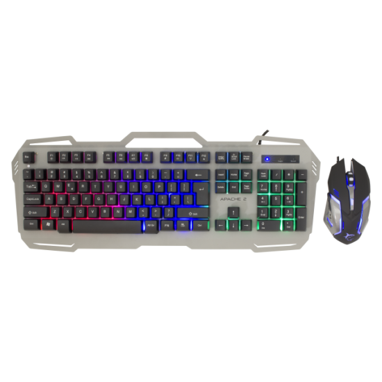 Tastiere dhe Mouse White Shark APACHE-2 per Lojra | WHITE SHARK KEYBOARD AND MOUSE GMK-1901 APACHE - COMBO