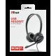 Kufje Trust Mauro per Call Center |  USB Headset per PC dhe Laptop